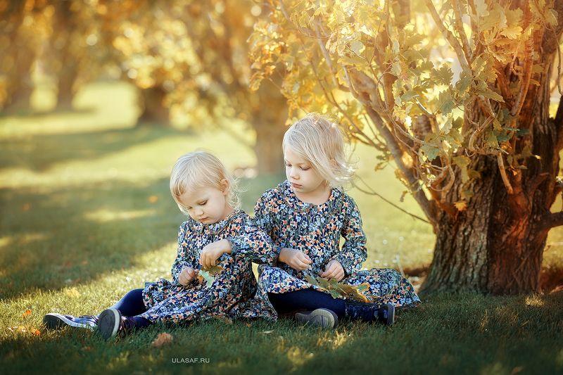 портрет, осень, девочки, girls, autumn, лес, друзья, солнышко, лучи, sun, happy, happiness, сказка, волшебство, magik Сестренкиphoto preview