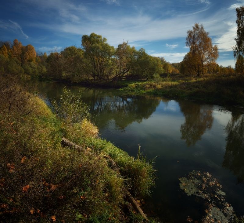 лес, природа, пейзаж, подмосковье, осень, отражения Осенняя Истраphoto preview