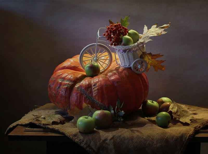натюрморт, осень, тыква, свеча, хеллоуин Сказочки про тыквыphoto preview