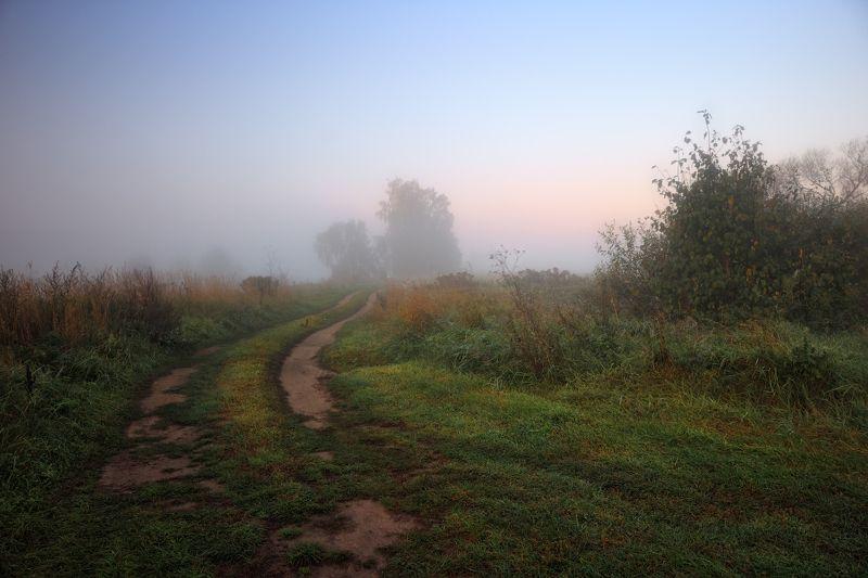 рассвет, осень, туман, Осенние туманыphoto preview