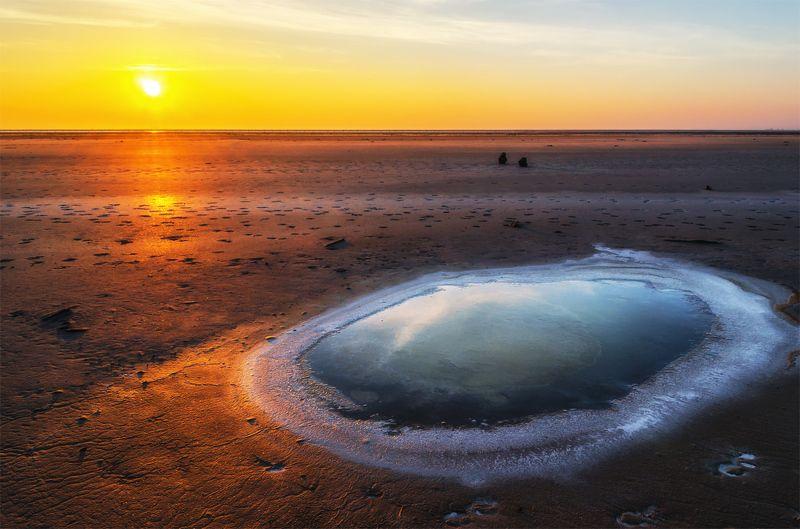 природа, пейзаж, весна, восход, рассвет, утро, соль, баскунчак Окрестности озера Баскунчакphoto preview