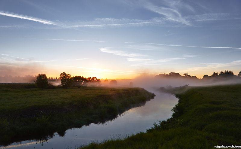 Рассвет на реке Солова.photo preview
