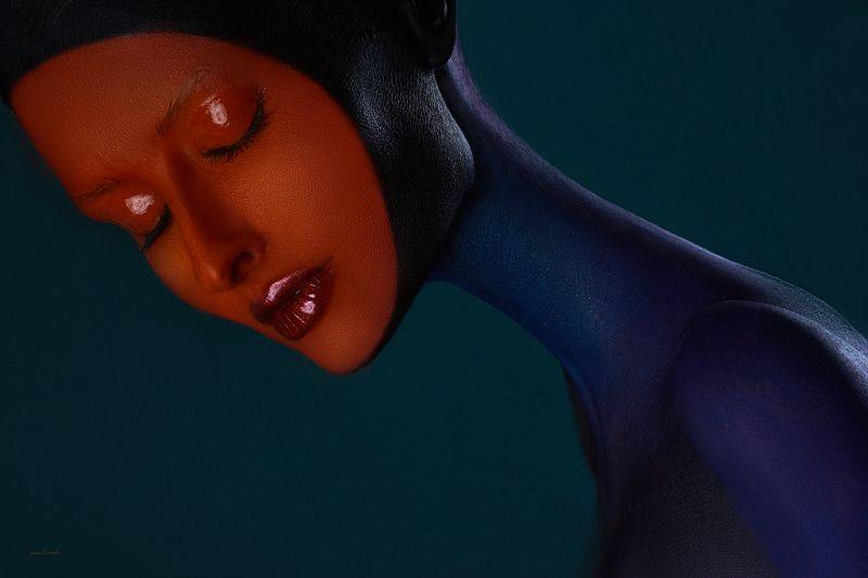 портрет, девушка, арт, фейсарт, профиль, красота, гармония, инопланетянин, фотокузница, ivankovale Встречаphoto preview