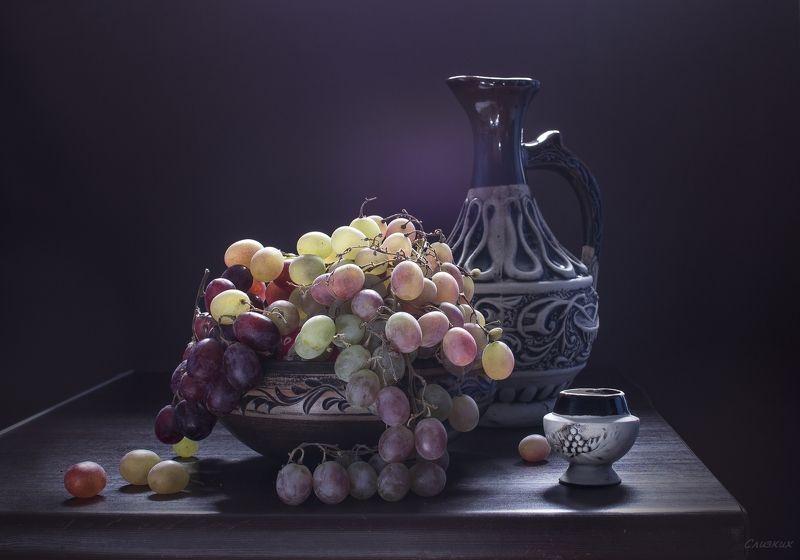 натюрморт, винград,свет,графин,осень,октябрь Виноградная палитраphoto preview