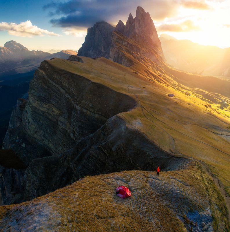 seceda, sunrise, dolomites Secedaphoto preview