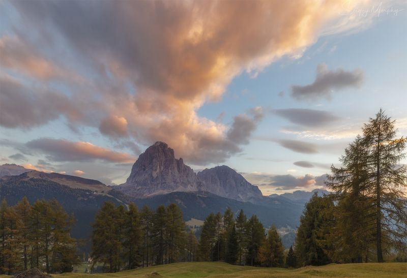 sunset santa cristina  val gardena Sunset in Santa Cristina in Val Gardena.photo preview