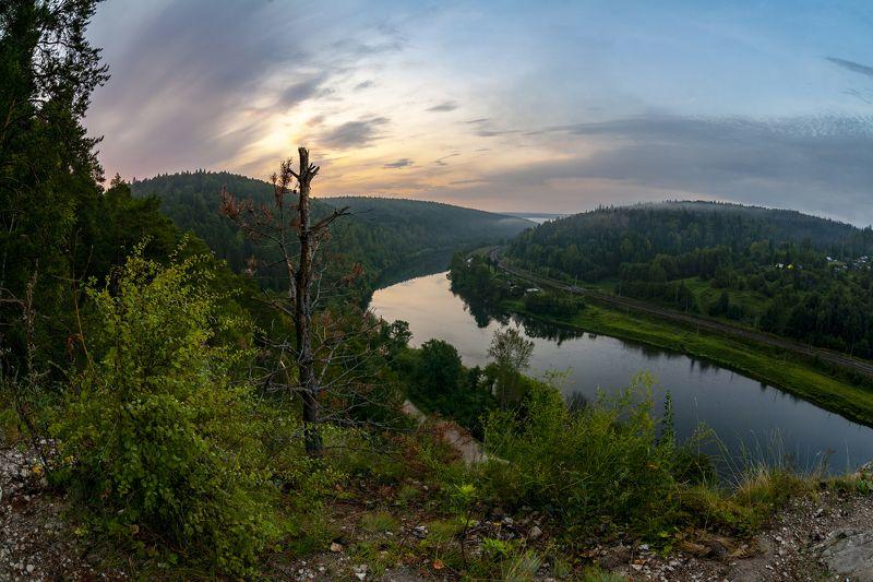 урал, пермский край, река сылва камень Ермак, перед рассветомphoto preview