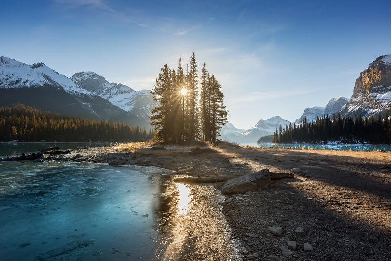 jasper, spirit, island, moraine, lake, indigenous ОСТРОВ ДУХАphoto preview