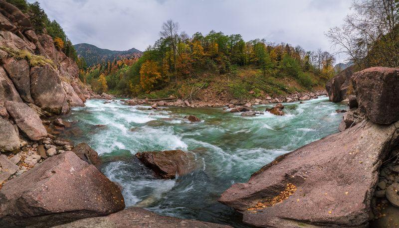 западный кавказ кчр большая лаба осень На большой Лабеphoto preview