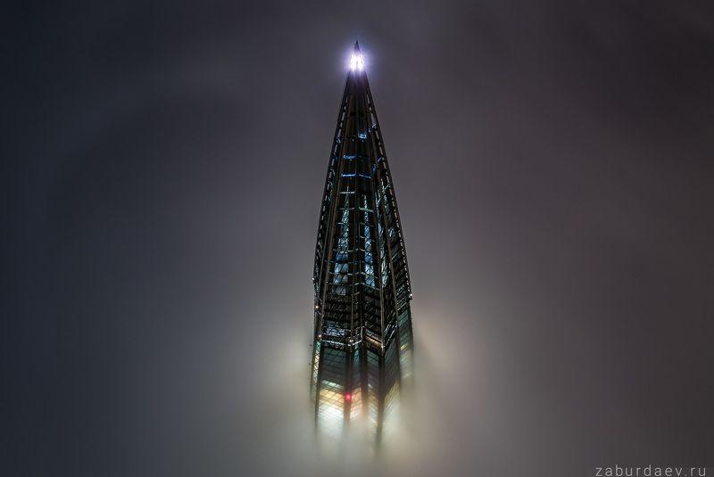 россия, петербург, город, архитектура, вечер, ночь, туман, аэрофотосъемка, дрон, квадрокоптер Туман в Петербургеphoto preview