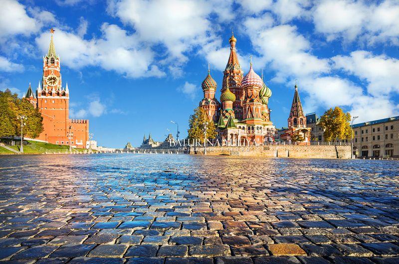 москва, собор василия блаженного, спасская башня Спасская башня и Собор Василия Блаженногоphoto preview
