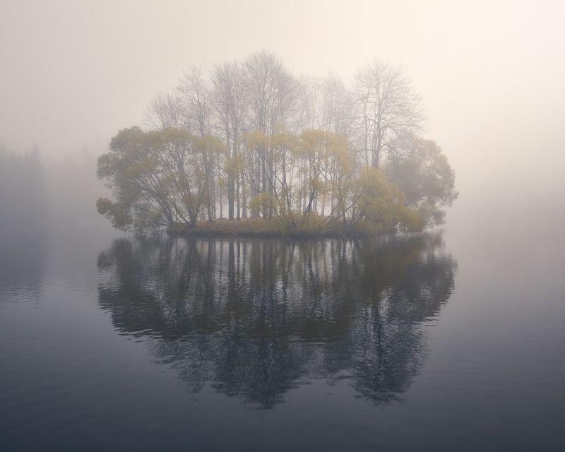 туман, пушкин, утро, осень Туманный Островphoto preview