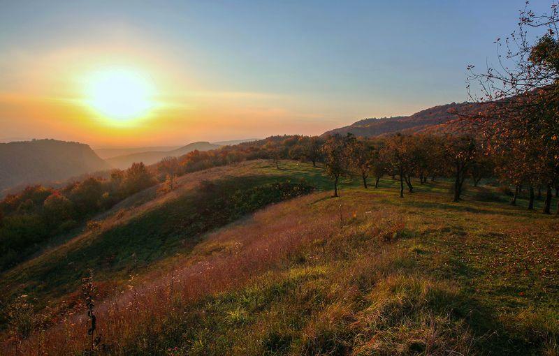 горы,осень,природа,дагестан. Утренний пейзаж..photo preview
