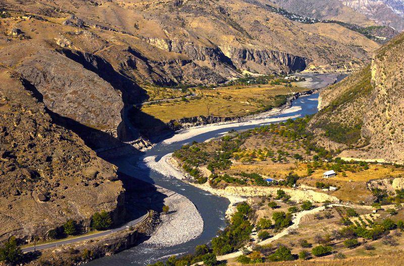 горы,река,осень,природа,дагестан. Карадах..photo preview