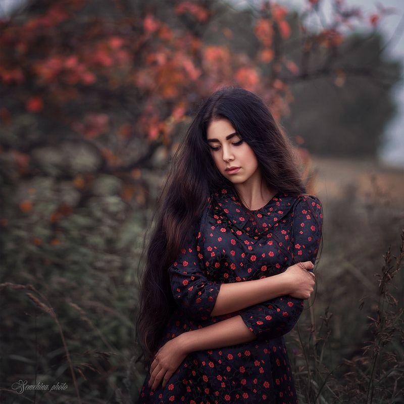 девушка, осень, настроение, утро, туман, красный, волосы, портрет, girl, portreit, mood, morning, fog, red, hair photo preview