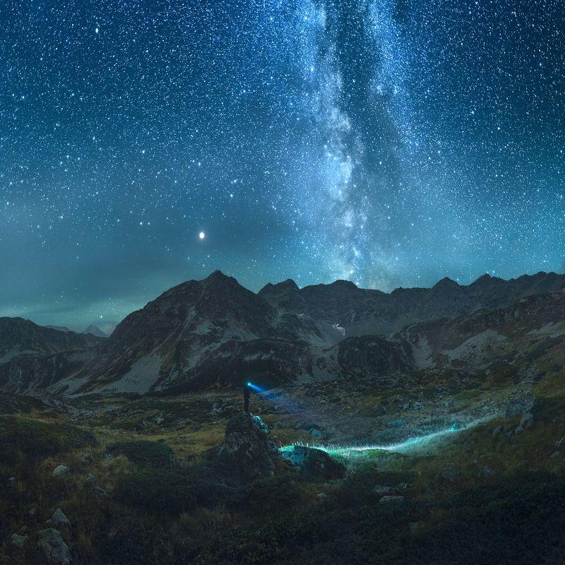 кавказ, осень, архыз, дуккинские озера, млечный путь, астрофото Дуккинские озераphoto preview