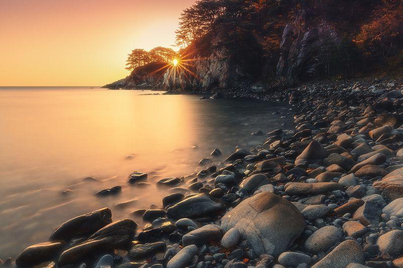 утро, море, скалы, восход ***photo preview