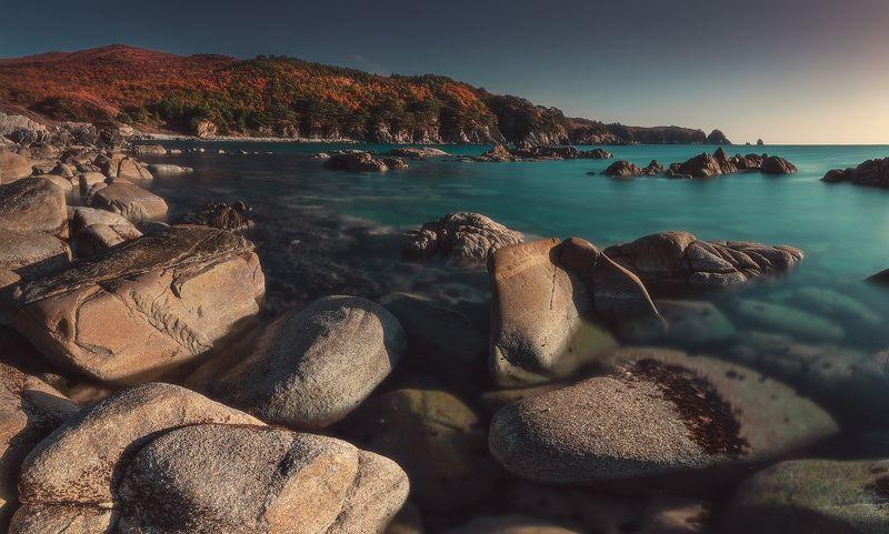 панорама,утро, море, скалы, осень ***photo preview