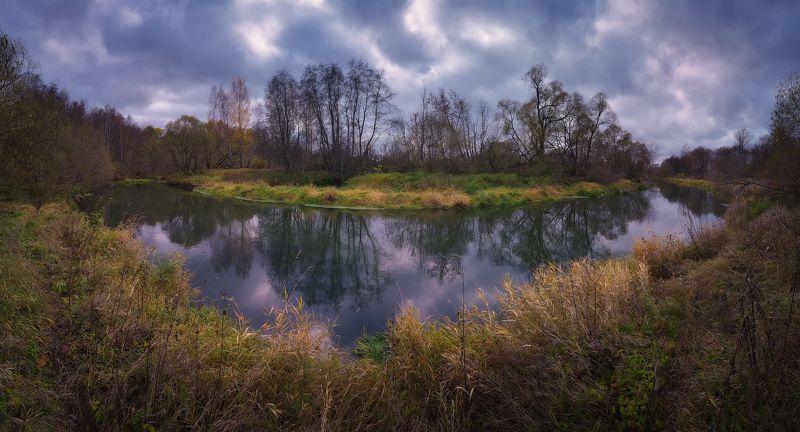 лес, природа, пейзаж, осень, река, вода, ручей, подмосковье Осень на Истреphoto preview