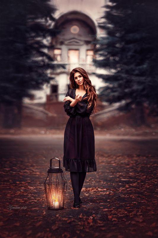 портрет, девушка, сказка, развалины, магия, ведьма, girl, potreit, mood, castle, magic photo preview