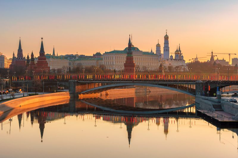moscow, skyline, kremlin, russia, red, square, architecture, city, cathedral, tower, view, river, morning, travel, landmark, cityscape, sky, panoramic, bridge, dome, reflection, russian, sun, landscape Москваphoto preview