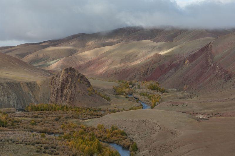 алтай, кокоря, рассвет, осень, каньон, река Марсианский рассветphoto preview