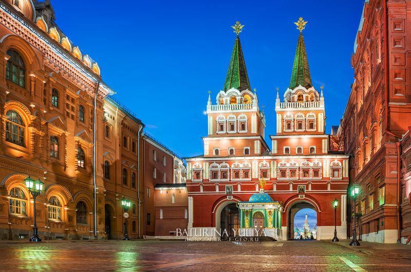 москва, красная площадь, воскресенские ворота Воскресенские ворота Красной Площадиphoto preview