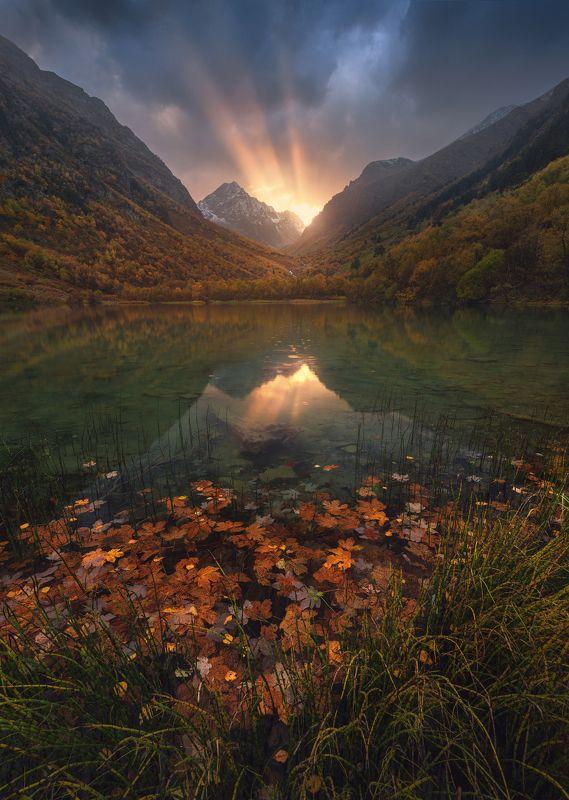 домбай, тебердинский заповедник, теберда, баддукские озера, осень Тебердинский Заповедникphoto preview