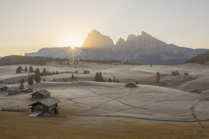 frozen morning  dolomites. Frozen morning in Dolomites.photo preview