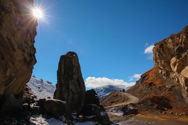горы,осень,природа,дорога Горный пейзаж..photo preview