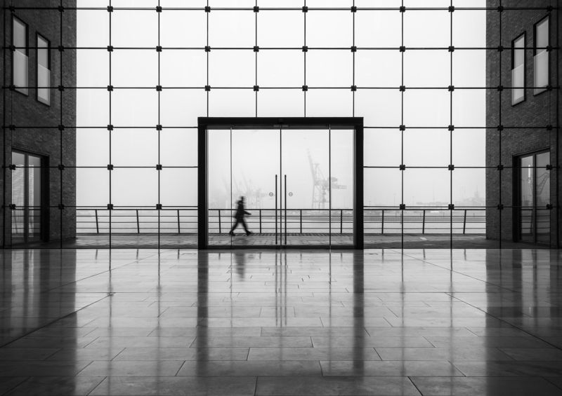 glass, urban, street, bnw, people, hamburg, reflection, harbour Sparkasse 2photo preview