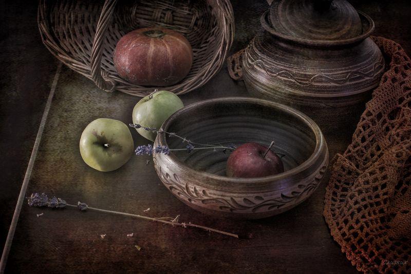 натюрморт,этюд,яблоки,тыква,осень Необычный ракурсphoto preview
