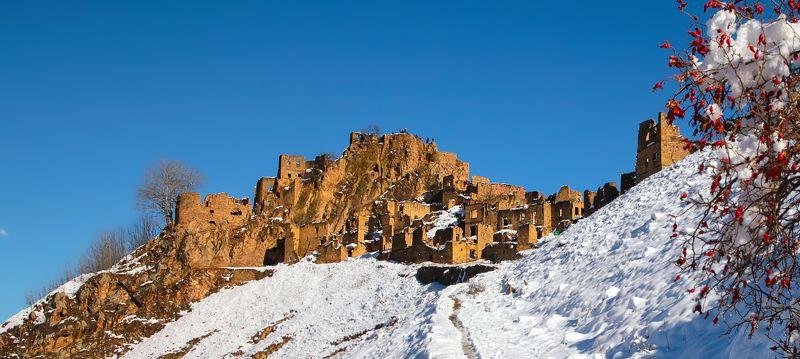 горы,снег,осень,природа. Аул Гамсуталь..photo preview