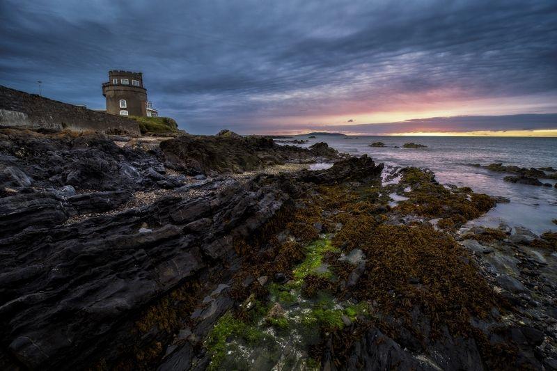 ireland, tower, sunrise Martello tower..photo preview
