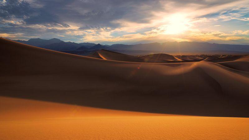 desert, sand, dry, sahara, egypt, africa, sunrise, morocco, dunes, sunset, nature, panoramic, landscape, valley, death, sand, national, park, desert, California, USA, hot, travel, wave, summer, yellow, mesquite, ripple, flat, Mojave, in desertphoto preview