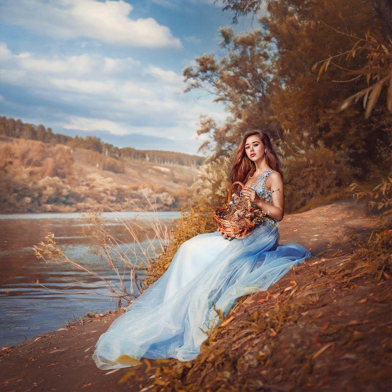 девушка, портрет, осень, картина, живопись, girl, portreit, autumn, picture, art photo preview