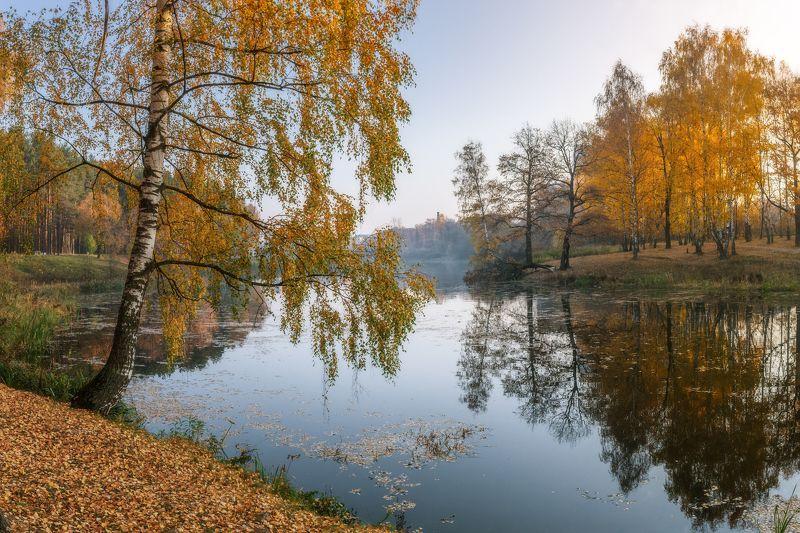 природа, пейзаж, осень, подольск, отражение photo preview