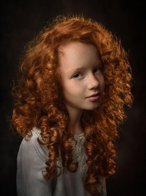 портрет, ребенок, рыженькая, конопушки, рыжие волосы, рембрандт, портрет рыженькой девочки Екатеринаphoto preview