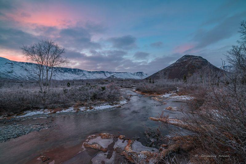 север, кольский, хибины, заполярье, осень, вечер, заморозки, Седые Хибины.photo preview