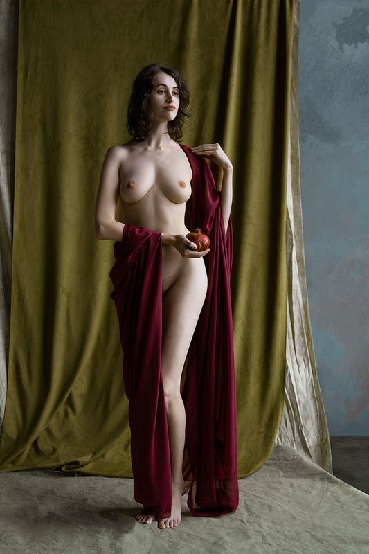 fine art nudes Study with pomegranatephoto preview