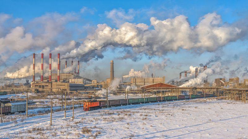 skrylov,skrylov_official,челябинск, суровый, чмк, мечел, пейзаж, индастриал, поезд, промышленность вл22м, грузовой, дым, трубы, зима, утро, мороз ***photo preview