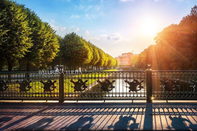 санкт-петербург, мойка, садовый мост Ограда 2 Садового моста через Мойкуphoto preview
