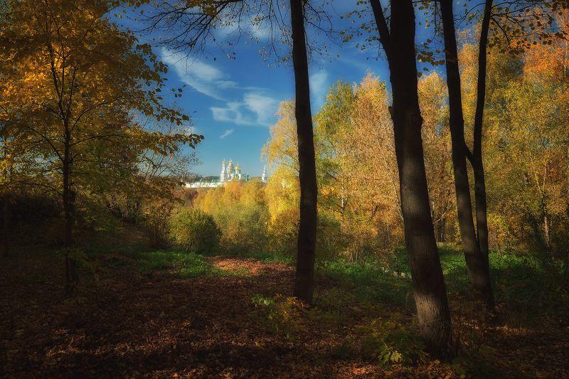 осень, краски, парк, истра Взгляд на монастырьphoto preview