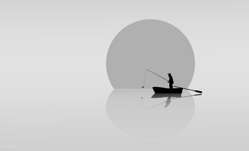 море, утро, рыбак, лодка Рыбакphoto preview