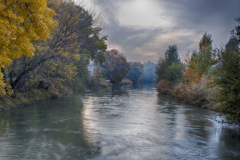 кыргызстан, горы Осенняя акварельphoto preview