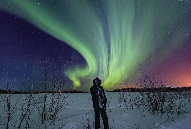северное сияние,полярное сияние,сс,коми,природа,север,northern lights, polar lights, ss, komi, nature, north Световое шоуphoto preview
