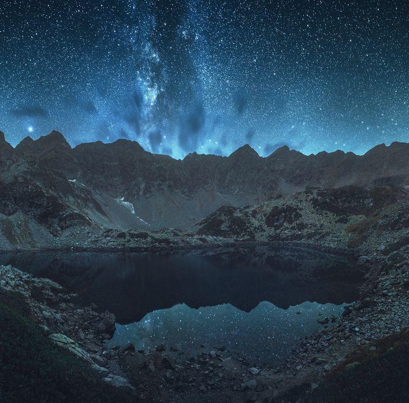 кавказ, осень, архыз, дуккинские озера, млечный путь, астрофото Тишина Аркасарского Озераphoto preview