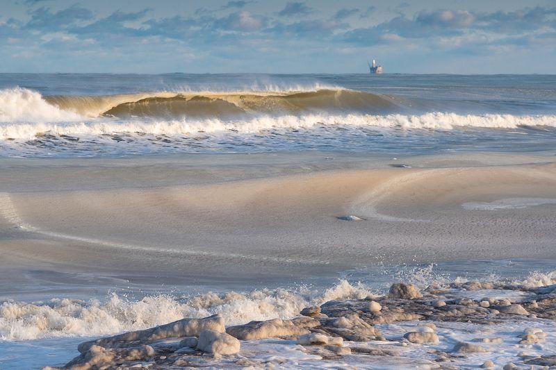 сахалин, море, зима, охотское море, россия Пластилиновое мореphoto preview