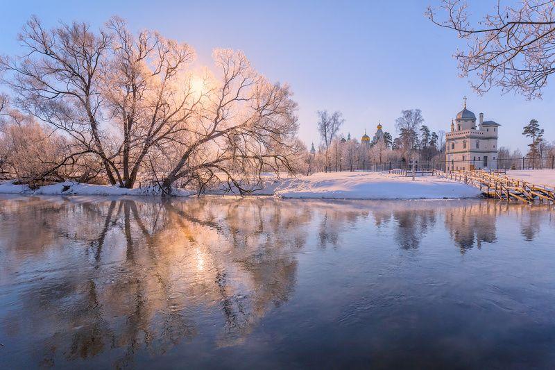 зима, утро, река, истра, солнце Утреннее солнцеphoto preview