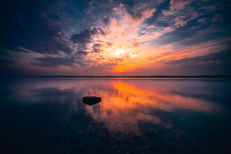 landscape, curonian gulf, sunset, colors, long exposure Curonian Dreamsphoto preview